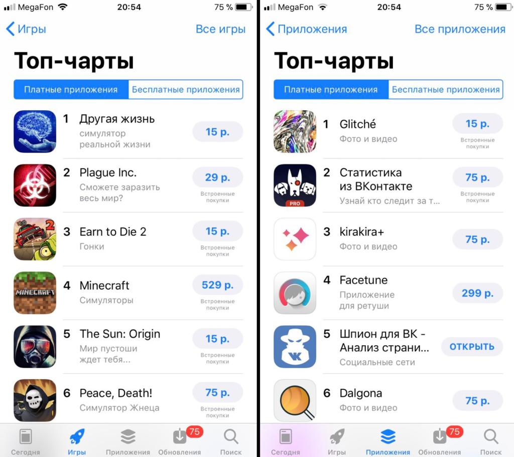 Продвижение в топ App Store