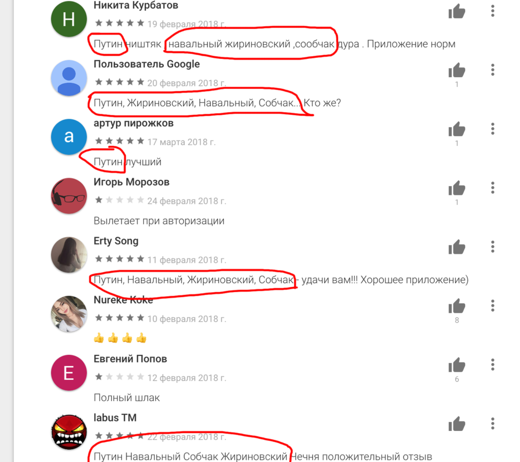 Ключевые слова в Google Play